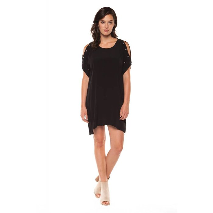 Dolman Sleeve Dress with Snaps