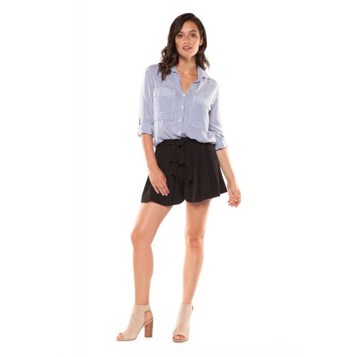 Pleated Short with Self Sash