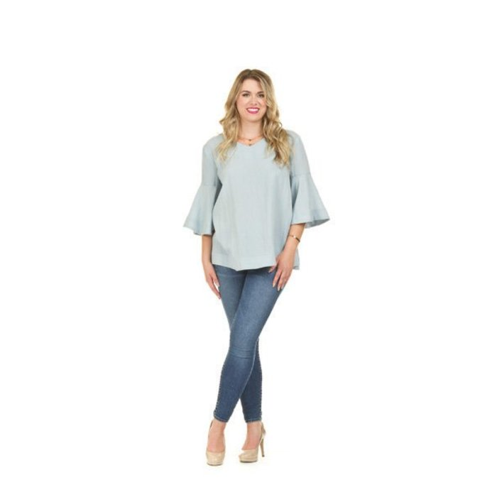 Bell Sleeve A Line Top