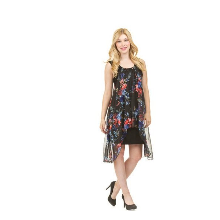 Floral Overlay Dress