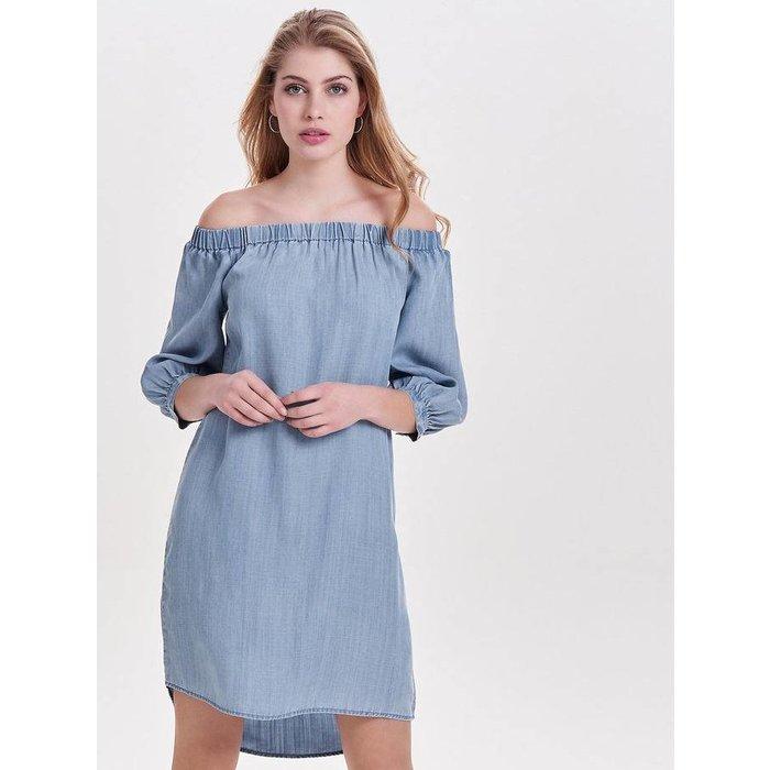 Janice Off Shoulder Denim Dress