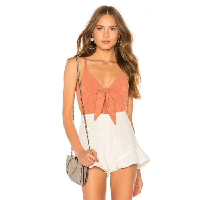 Andalusia Tie Front Bodysuit