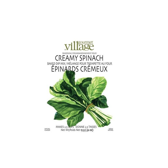 Dip Recipe Box Creamy Spinach