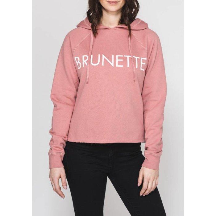 Brunette Raw Hem Crew