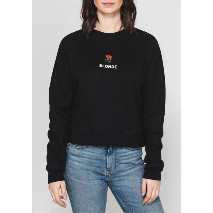Blonde Rosie Embroidered Crew