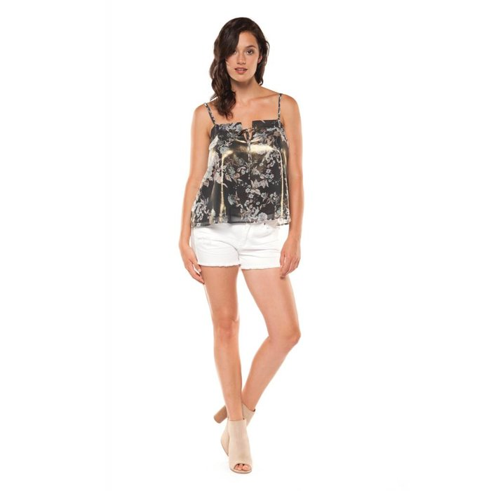 Printed Cami with Front Tie