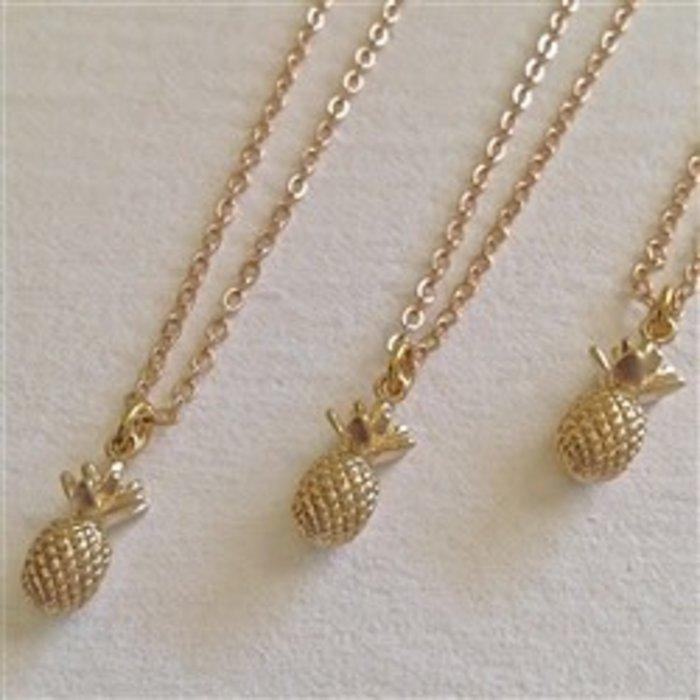 Aloha Pineapple Pendant Necklace