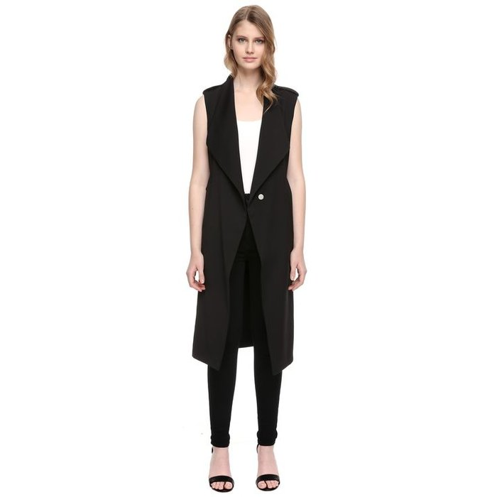 Cherilyn Long Draped Coat