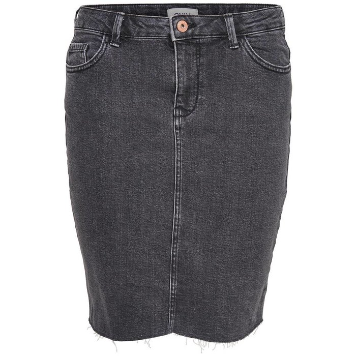 Eliza Raw Edge Denim Skirt