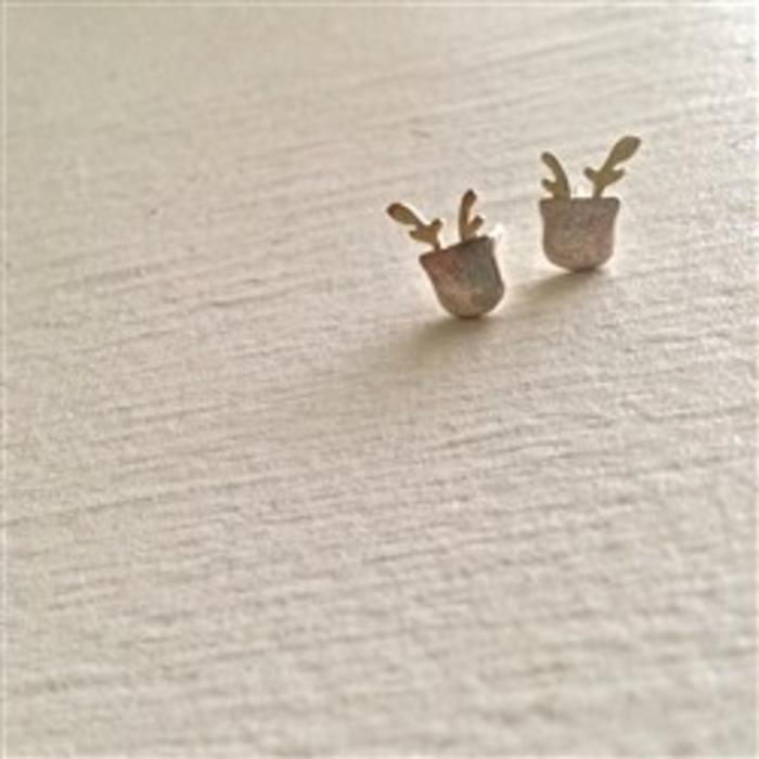Sprout Plant Stud Earrings Silver