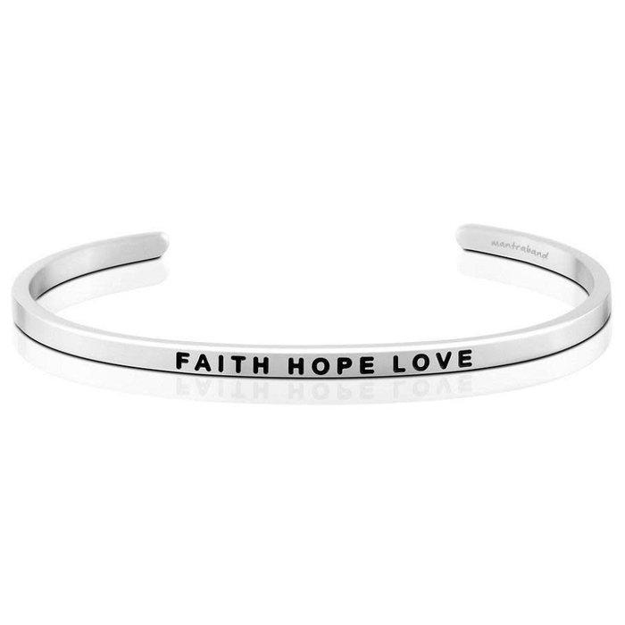 Faith Hope Love Silver