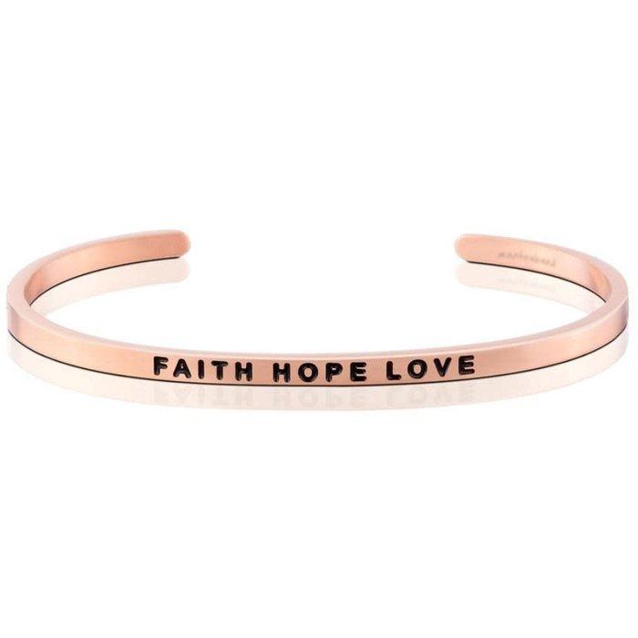 Faith Hope Love Rose Gold