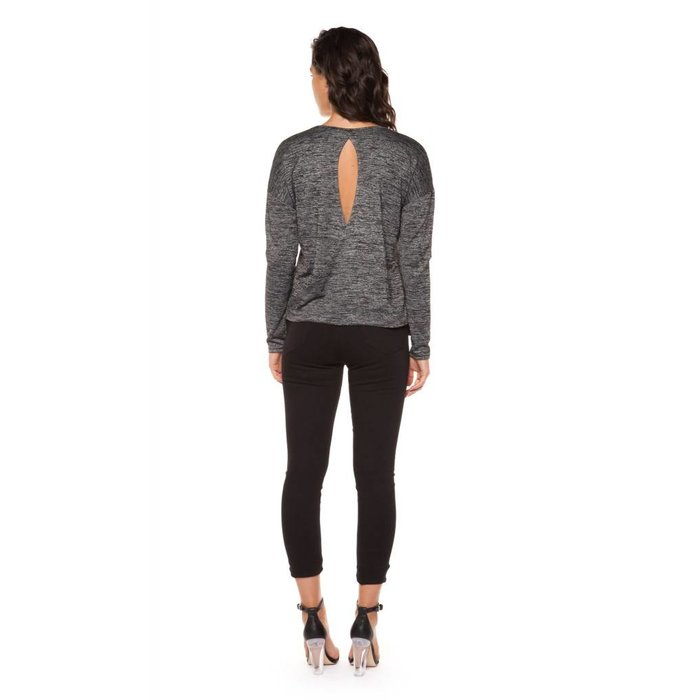 Scoop Neck Top With Open Back