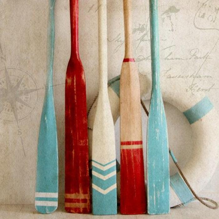 Red and Blue Oars