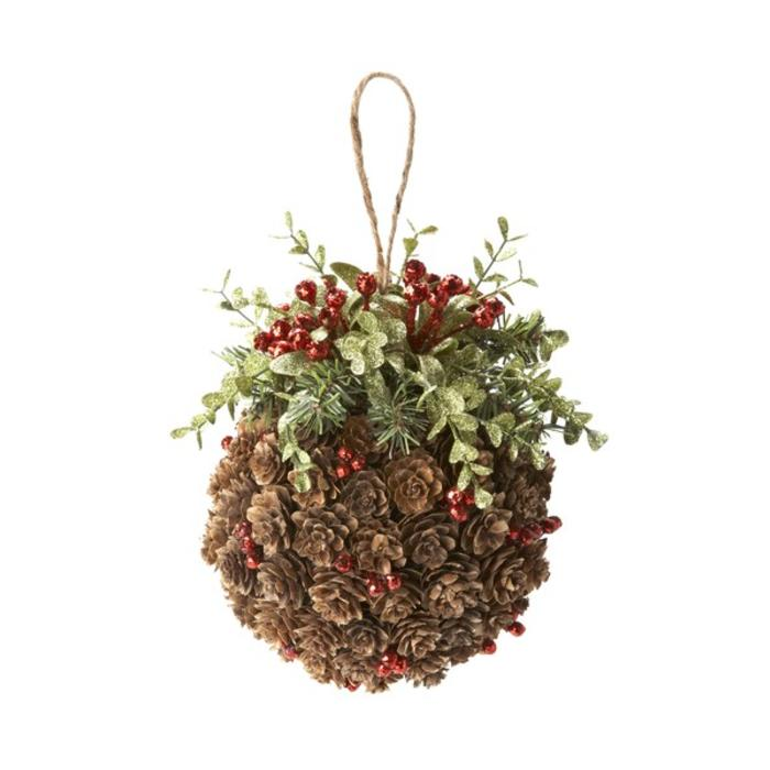 Mistletoe and Pinecone Kiss Ball