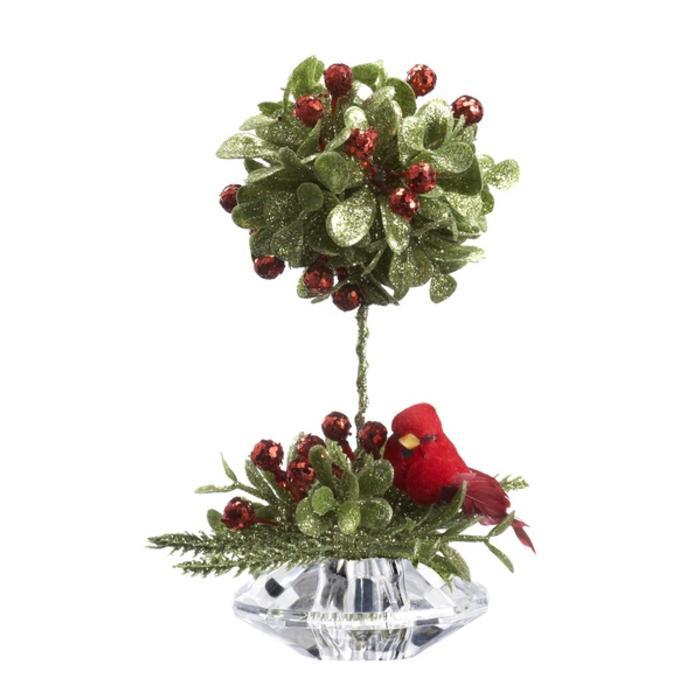 Cardinal Mistletoe Topiary