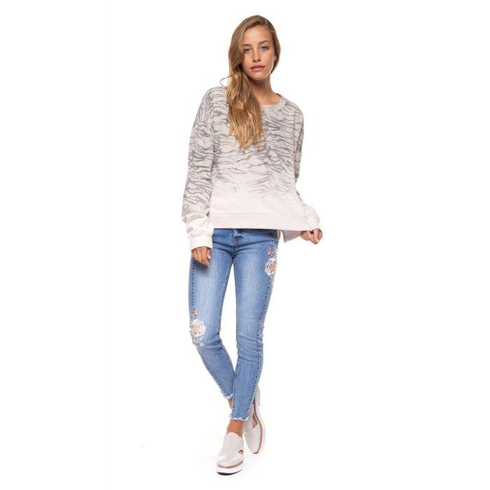 Zebra Scoop Neck Sweater