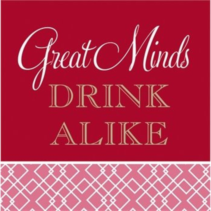 Great Minds Drink Alike Cocktail Napkin
