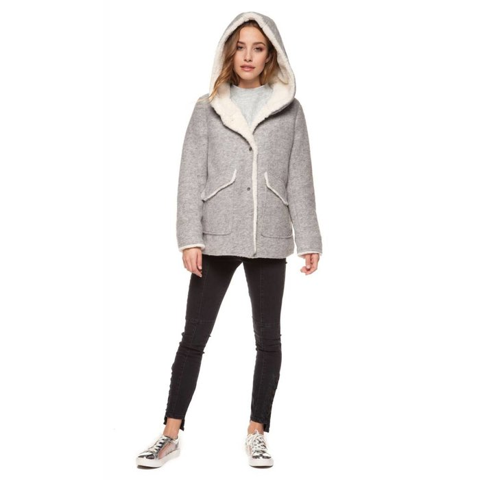 Hooded Sherpa Lined Coat