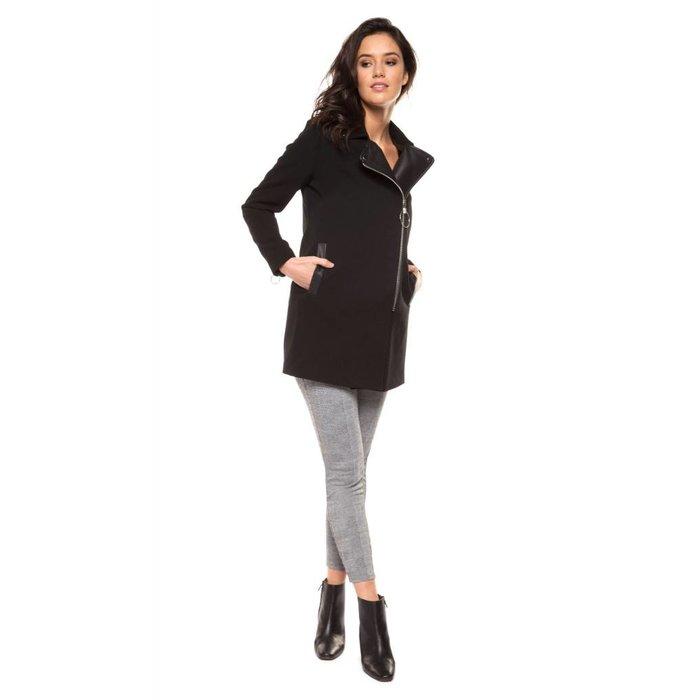 Asymmetrical Zip Front Coat
