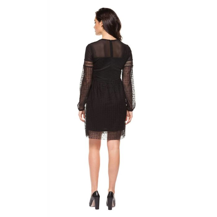 Dress With Mesh and Jacquard Detail