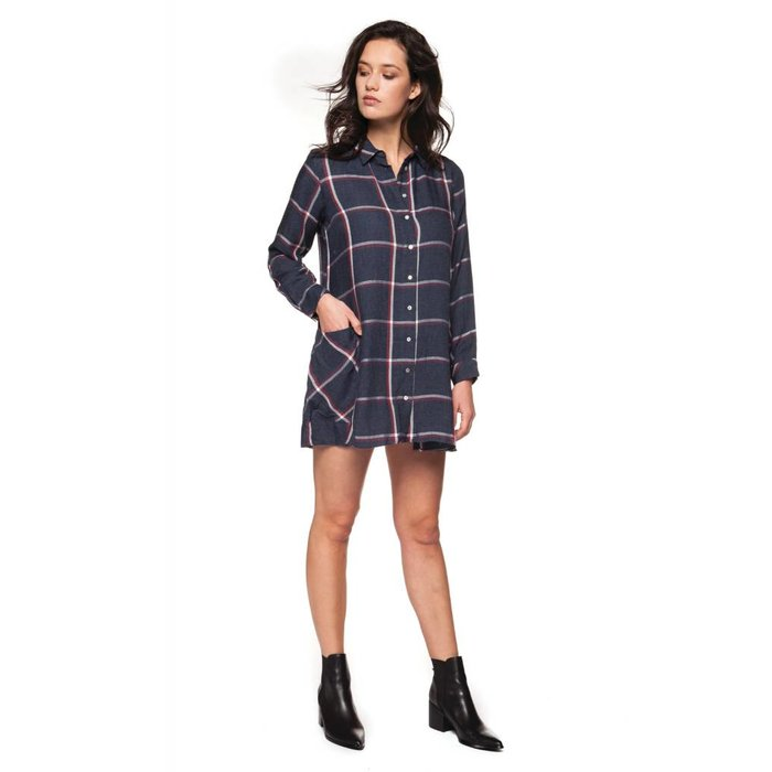Plaid Blouse Dress