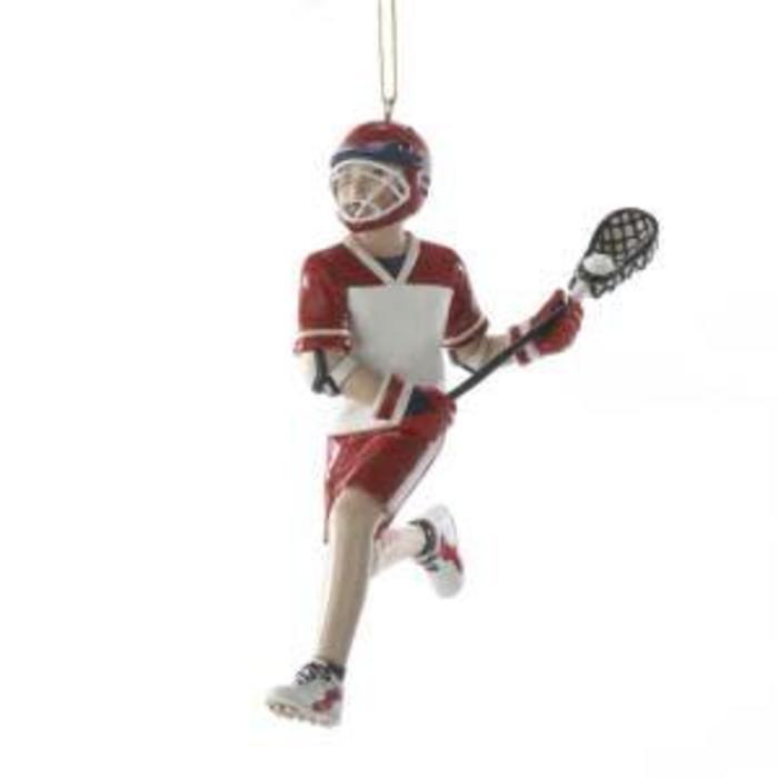 "Lacrosse Boy Ornament 5"""