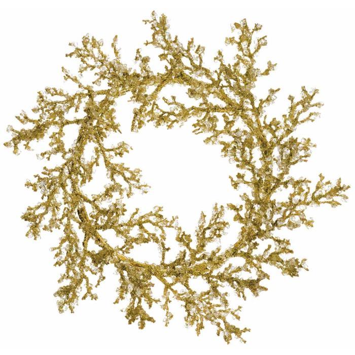 """Glitter Twig Wreath 22"""""""
