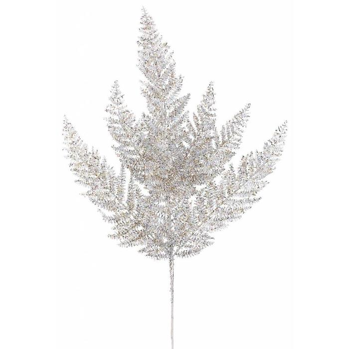 Glitter Fern Spray Silver and Gold 24""
