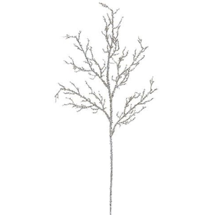 Glitter Twig Spray 29""