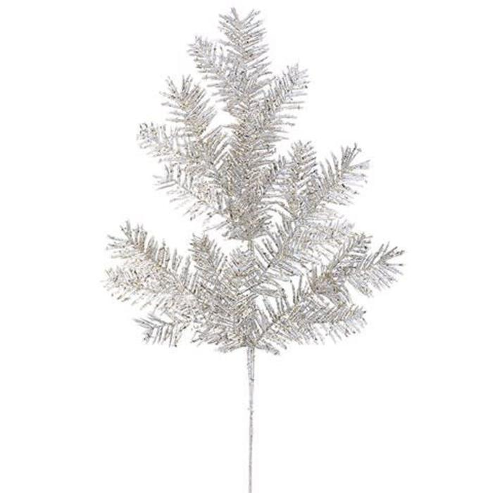 Glitter Hemlock Spray 23""