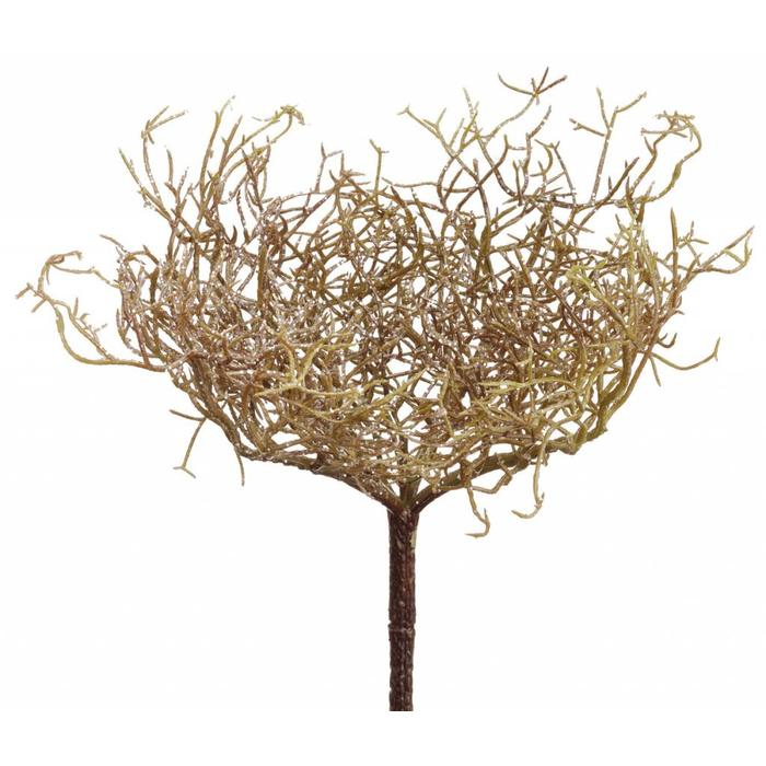 Glittered Twig Bush 11""