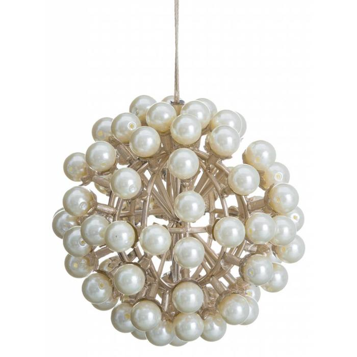 Pearl Ball Ornament 4""