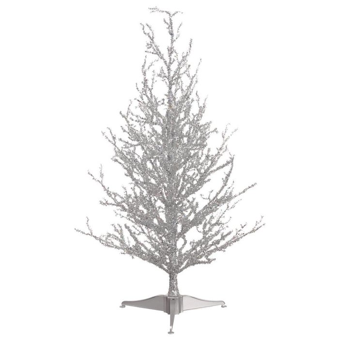 Glittered Christmas Tree Silver 24""