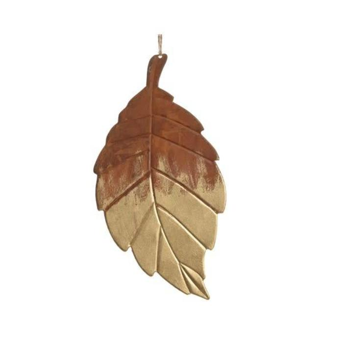 "Iron Leaf Gold Wash 4"" x 8"""