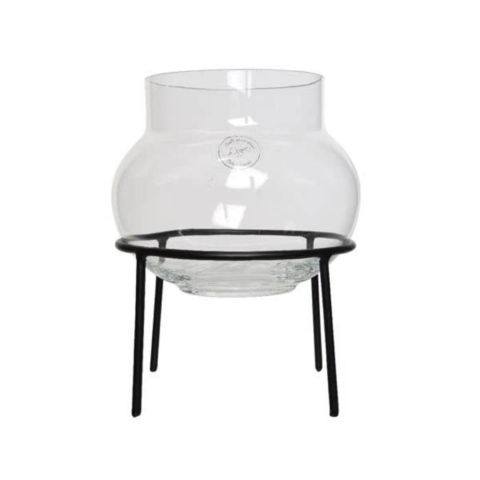 """Glass Vase With Stand 8"""" x 11.5"""""""