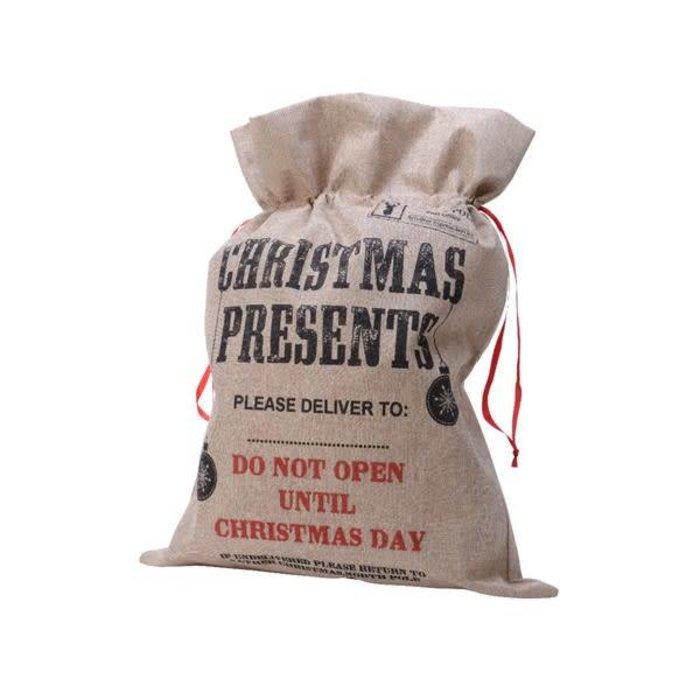 Jute Gift Bag Christmas Present Natural
