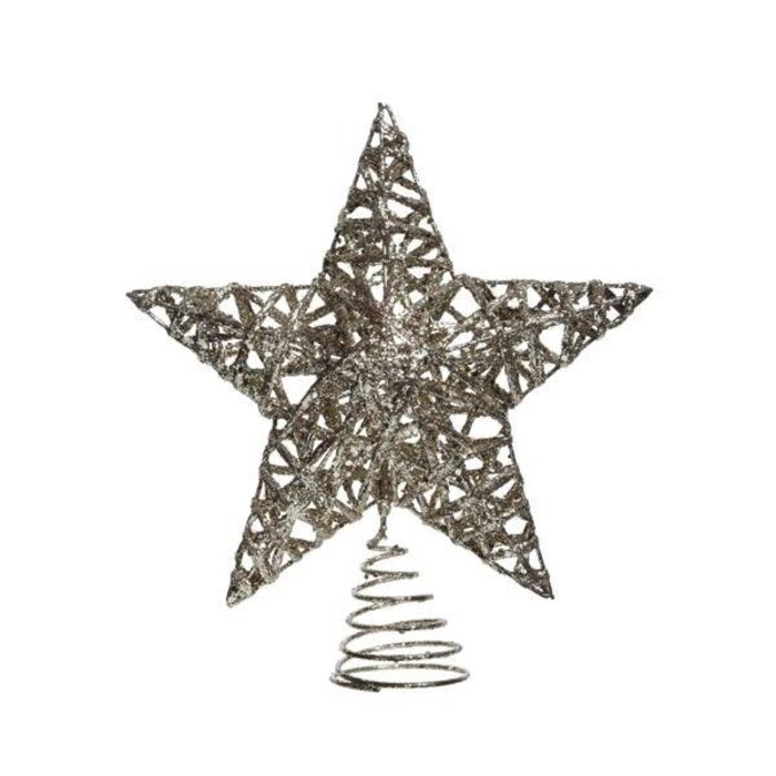 Glitter Star Treetop Champagne