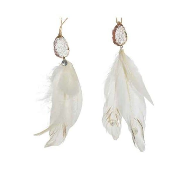 Feather Hanger White