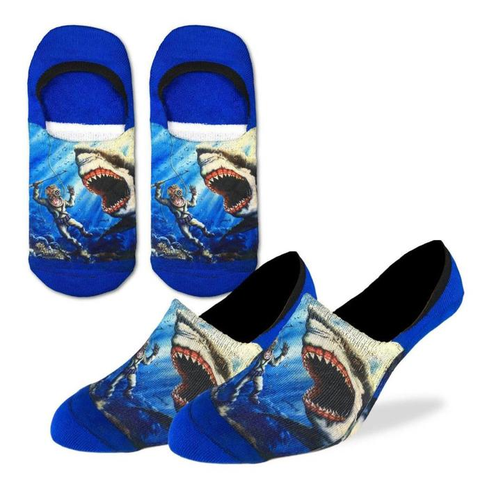 Men's Shark Attack No Show Ankle Socks