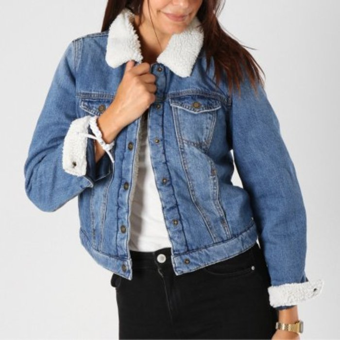 Chris Teddy Denim Jacket