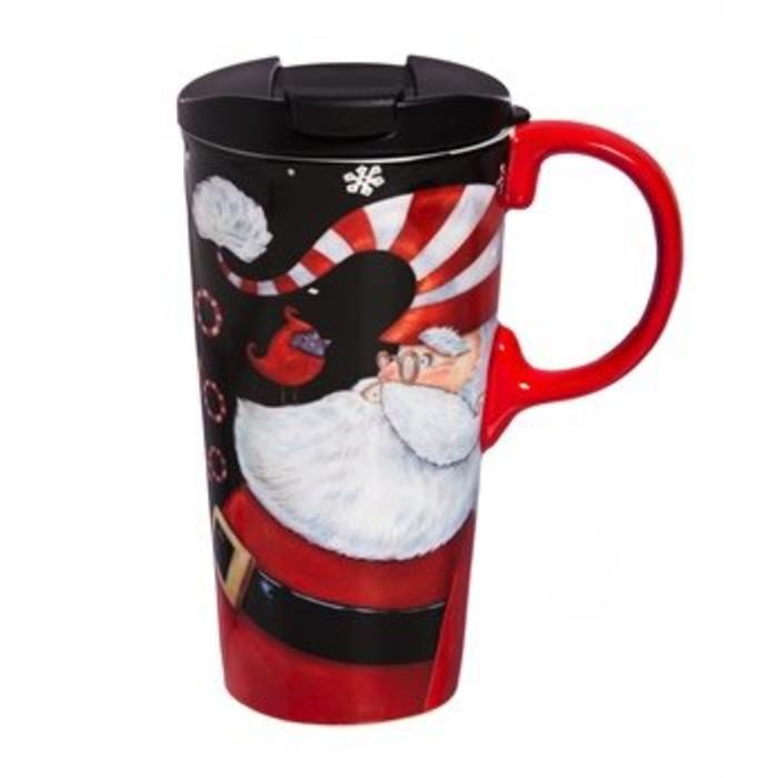Ceramic Perfect Cup Ho Ho Ho 17oz