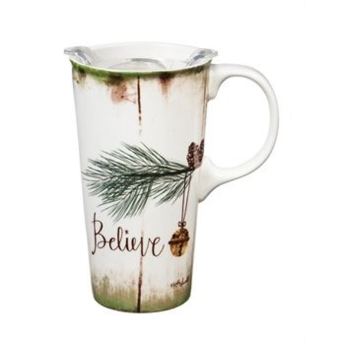 Ceramic Travel Cup Believe 17oz