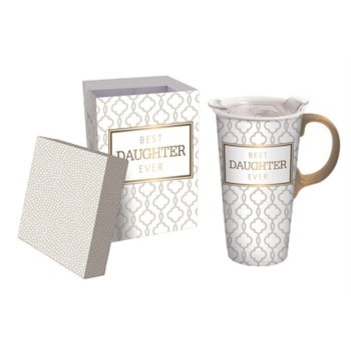 Ceramic Travel Cup Best Daughter Ever 17oz