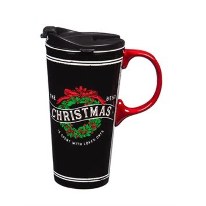Ceramic Travel Cup Christmas With Loved Ones 17oz
