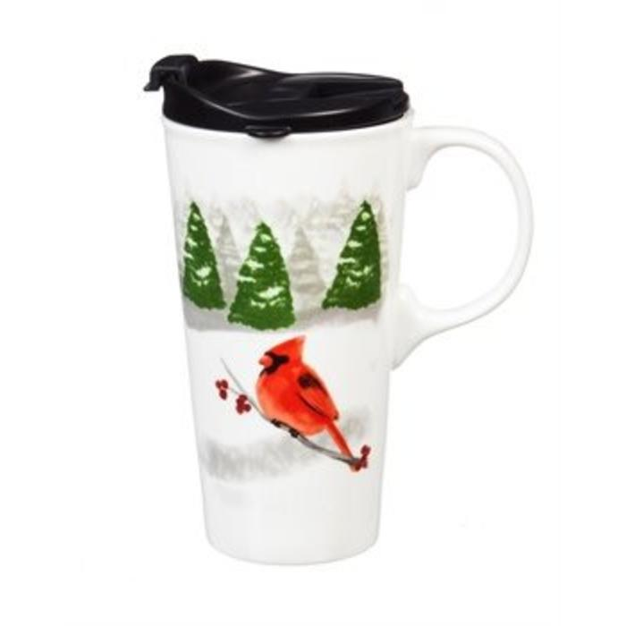 Ceramic Travel Cup Peace On Earth 17oz