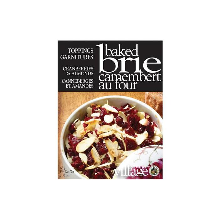 Brie Toppings Cranberries and Almonds