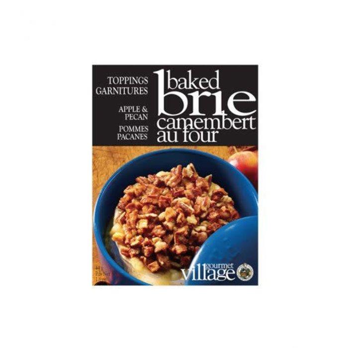 Brie Toppings Apple Pecan
