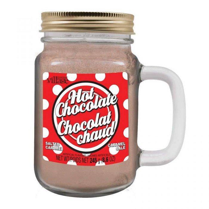 Retro Polka Dot Salted Caramel Hot Chocolate Jar