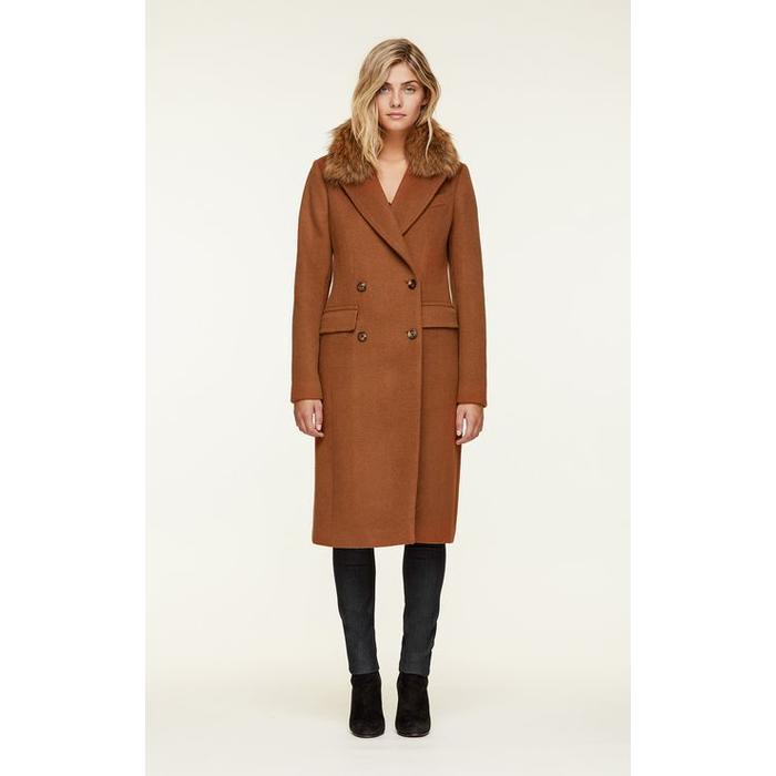Lorenza Fur Wool Coat